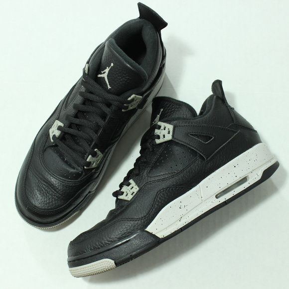 sports shoes 26793 6a7e7 Authentic Nike Air Jordan Oreo IV 4 Retro GS Grey